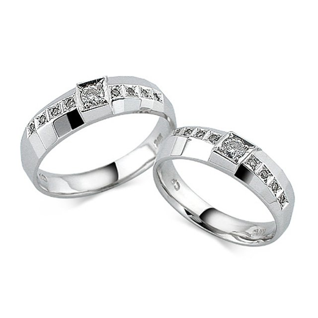 14K/18K 하모니 1부 다이아몬드 커플링반지