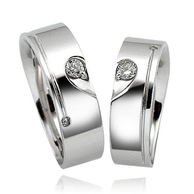 14K/18K 커플 하트 1부 다이아몬드 커플링반지