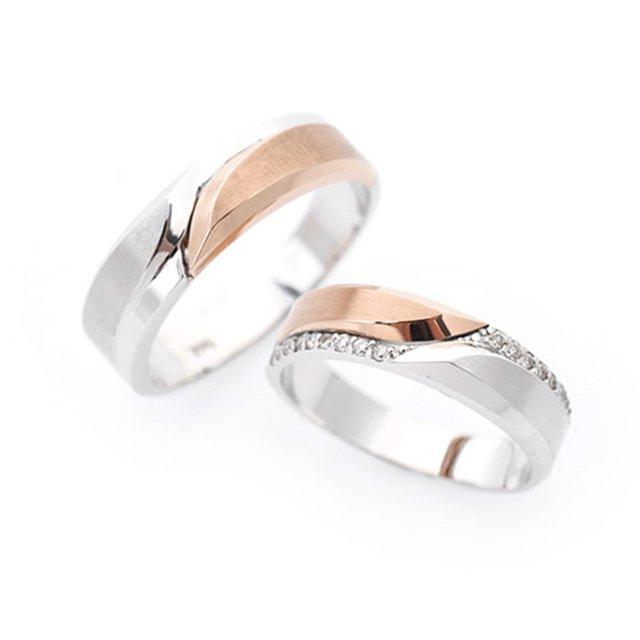 14K/18K 아페라 다이아몬드 커플링반지